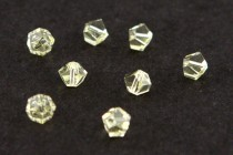 Bead, Swarovski® crystals, Jonquil , faceted simplicity (5310).