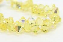 Jonquil AB Swarovski Crystal Top Drilled Bicone Pendants 6301