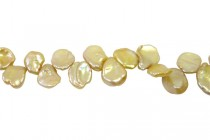 Keshi / Top Drilled Petal Freshwater Pearl - Champagne (Dyed ) 9x12mm-10x14mm
