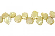 Keshi / Top Drilled Petal Freshwater Pearl - Champagne,Yellow,Light  (Dyed ) 8x10mm-8x12mm