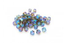 Khaki AB2x 5328 Swarovski Elements Crystal Bicone Bead