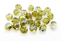 Khaki AB 5000 Swarovski Elements Crystal Round Bead
