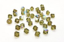 Khaki AB 5301/5328 Swarovski Elements Crystal Bicone Bead