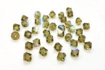 Khaki AB Swarovski Crystal Bicone Beads 5301/5328 - Factory Pack