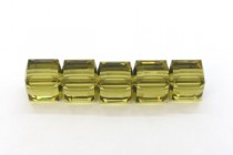 Khaki 5601 Swarovski Elements Crystal Cube Beads - 6mm
