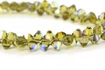 Khaki AB Swarovski Crystal Top Drilled Bicone Pendants 6301