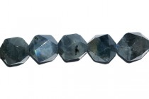 Labradorite, Natural, A Grade, Faceted Nugget, (icosahedron), Gemstone Beads
