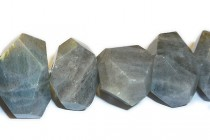 Labradorite ( Natural ) A grade Faceted Nugget Gemstone Beads