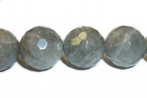 Labradorite (Natural) Faceted Disco Cut Round Gemstone Beads