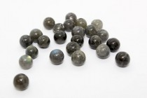 Labradorite (Natural) A Grade Big Hole Round Gemstone Beads