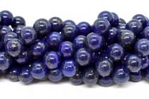 Lapis Lazuli (Natural) Smooth Round Gemstone Beads - A Grade