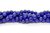 Lapis Lazuli (Natural) AB Grade Round Gemstone Beads