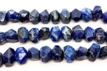 Lapis Lazuli (Natural) Faceted Nugget Gemstone Beads - AB Grade