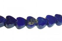 Lapis Lazuli, Natural, A Grade, Heart Gemstone Beads