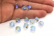 Lavender AB 2x 5301/5328 Swarovski Crystal Bicone Bead