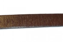 Brown Greek Leather Strap (Dyed) Sold by the Foot