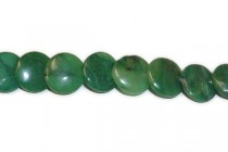 African Jade (Natural) A Grade Lentil Gemstone Beads