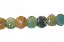 Fancy Jasper (Natural) Lentil Gemstone Beads