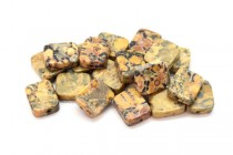 Leopard Skin Jasper (Natural) Flat Rectangle Gemstone Beads