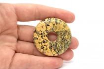 Leopardskin Jasper( Natural ) A Grade Gemstone Donut Pendant