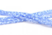 Light Blue Fiber Optic (Cats Eye) Glass Heishi Beads