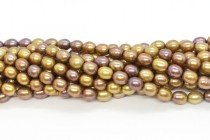 Light Bronze (Dyed) Rice Shaped Freshwater Pearl Beads