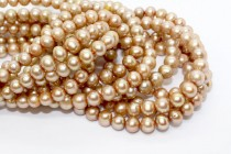 Potato Freshwater Pearls, light Brown, A Grade