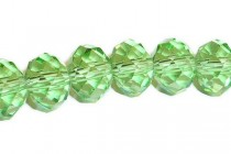 Green Peridot Chinese Crystal Rondelle Glass Beads