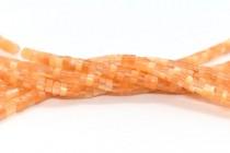 Light Orange Fiber Optic (Cats Eye) Heishi Beads
