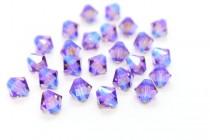 Lilac AB 2x  5301 Swarovski Elements Crystal Bicone Bead