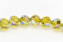 Lime AB2x 5000 Swarovski Elements Crystal Round Bead