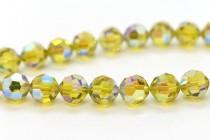 Lime AB 2x  5000 Swarovski Elements Crystal Round Bead