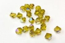 Lime AB  5301/5328  Swarovski Elements Crystal Bicone Bead