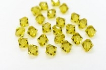 Lime 5301/5328 Swarovski Elements Crystal Bicone Bead