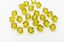 Lime 5328 Swarovski Elements Crystal Bicone Bead