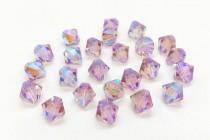 Light Amethyst AB2x Swarovski Crystal Bicone Beads 5301/5328 - Factory Pack
