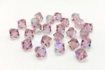 Light Amethyst AB 5301/5328 Swarovski Elements Crystal Bicone Bead