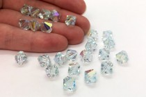 Light Azore AB 5301/5328 Swarovski Elements Crystal Bicone Bead