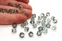 Light Azore Satin Swarovski Crystal Bicone Beads 5301/5328 - Factory Pack