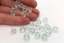 Light Azore Swarovski Crystal Bicone Beads 5301/5328 - Factory Pack