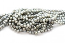 Light Blue/Grey (Dyed) Irregular Potato Freshwater Pearl Beads