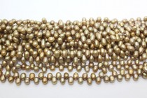 Top Drilled teardrop Freshwater Pearls - Light Bronze Peacock - A Grade