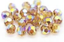Light Colorado Topaz AB2x Swarovski Crystal Round Beads 5000 - Factory Pack