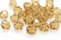 Light Colorado Topaz 5000 Swarovski Elements Crystal Round Bead