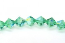 Light Emerald AB Swarovski Crystal Bicone Beads 5301/5328 - Factory Pack