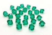 Light Emerald Swarovski Crystal Bicone Beads 5301/5328 - Factory Pack Quantity