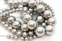 Crystal Light Gray - Swarovski Round Pearls 5810 - Factory Pack Quantity