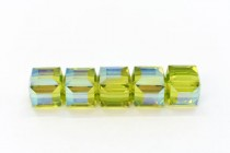 Light Olivine AB 5601 Swarovski Crystal Cube Bead