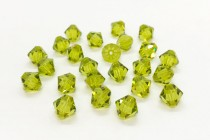Light Olivine Swarovski Crystal Bicone Beads 5301/5328 - Factory Pack Quantity