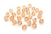 Light Peach Swarovski Crystal Bicone Beads 5301/5328 - Factory Pack